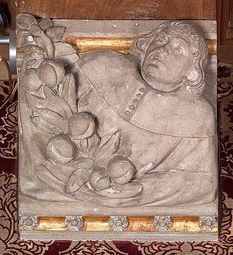 In de hal van kasteel de haar is tijdens de restauratie van 1892 - Decoratie eetzaal ...